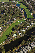 Aerial view of The River Golf Course on Kiawah Island, South Carolina.