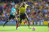 Allan-Romeo Nyom of Watford in action. Barclays Premier League, Watford v Southampton at Vicarage Road in London on Sunday 23rd August 2015.<br /> pic by John Patrick Fletcher, Andrew Orchard sports photography.