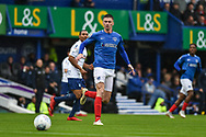 Portsmouth Forward, Oliver Hawkins (9) during the EFL Sky Bet League 1 match between Portsmouth and Wycombe Wanderers at Fratton Park, Portsmouth, England on 22 September 2018.