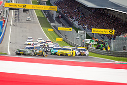 03.08.2014, Red Bull Ring, Spielberg, AUT, DTM Red Bull Ring, Renntag, im Bild Robert Wickens, (CAN,1. Platz Qualifying, FREE MAN'S WORLD Mercedes AMG C-Coupe), Timo Glock, (GER, 3. Platz, Rennen, Deutsche Post BMW M4 DTM), Marco Wittman, (GER, 1. Platz, Rennen, Ice-Watch BMW M4 DTM), Augusto Farfus, (BRA, 2. Platz, Rennen, Castrol EDGE BMW M4 DTM) // during the DTM Championships 2014 at the Red Bull Ring in Spielberg, Austria, 2014/08/03, EXPA Pictures © 2014, PhotoCredit: EXPA/ M.Kuhnke
