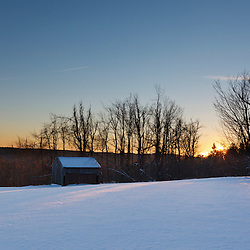 A field at sunset at the Notchview Reservation in Windsor, Massachusetts. The Trustees of Reservations.