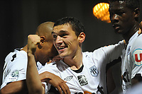 FOOTBALL - FRENCH CHAMPIONSHIP 2010/2011 - L2 - SCO ANGERS v ES TROYES - 29/10/2010 - PHOTO PASCAL ALLEE / DPPI - CELEBRATION CLAUDIU ANDREI KESERU AFTER HIS GOAL FOR ANGERS SCO