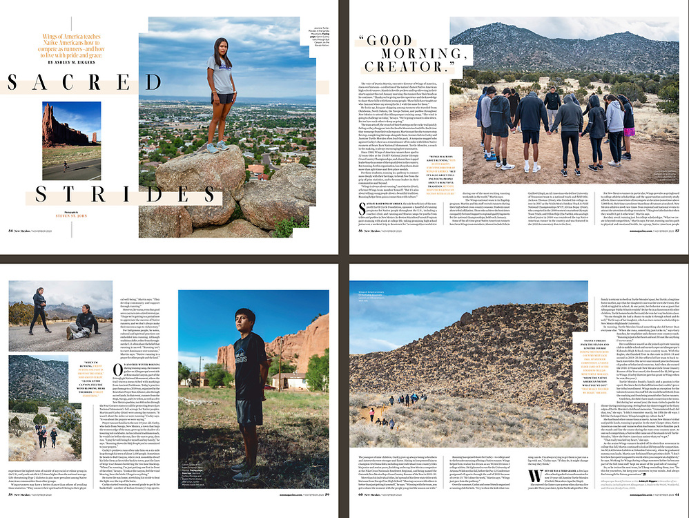 4-page story on Wings of America in New Mexico Magazine. 2020