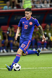 June 25, 2018 - Kazan, Russia - James Rodriguez of Colombia controls the ball during the 2018 FIFA World Cup Group H match between Poland and Colombia at Kazan Arena in Kazan, Russia on June 24, 2018  (Credit Image: © Andrew Surma/NurPhoto via ZUMA Press)