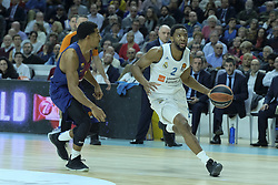 December 14, 2017 - Madrid, Spain - Chasson Randle  of Real Madrid during the 2017/2018 Turkish Airlines Euroleague Regular Season Round 12 game between Real Madrid v FC Barcelona Lassa at Wizink Arena on December 14, 2017 in Madrid, Spain  (Credit Image: © Oscar Gonzalez/NurPhoto via ZUMA Press)