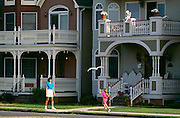 Girl and kite, Ocean Grove, NJ.