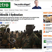 """Screengrab of """"SPLA soldiers"""" published in METRO Sweden"""