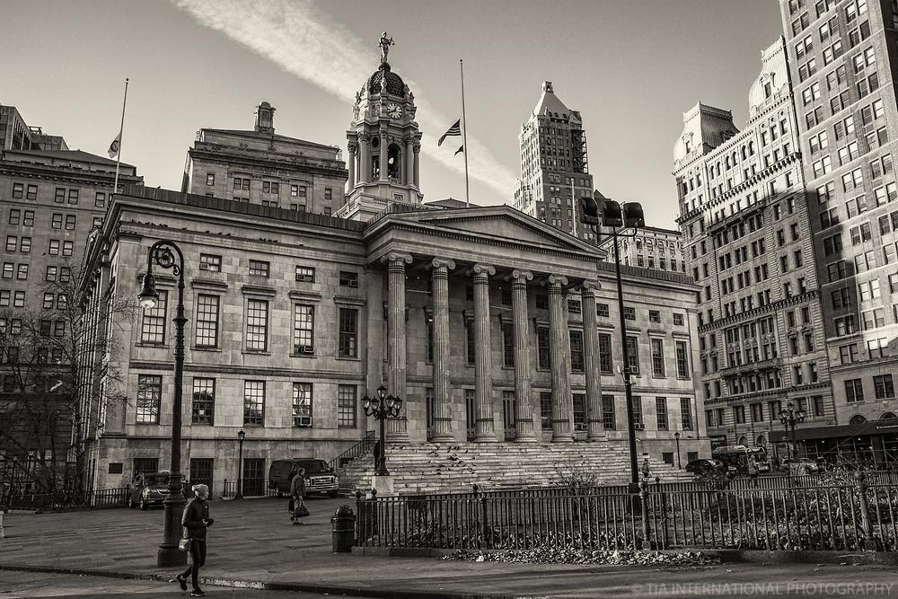 Brooklyn Borough Hall (monochrome)