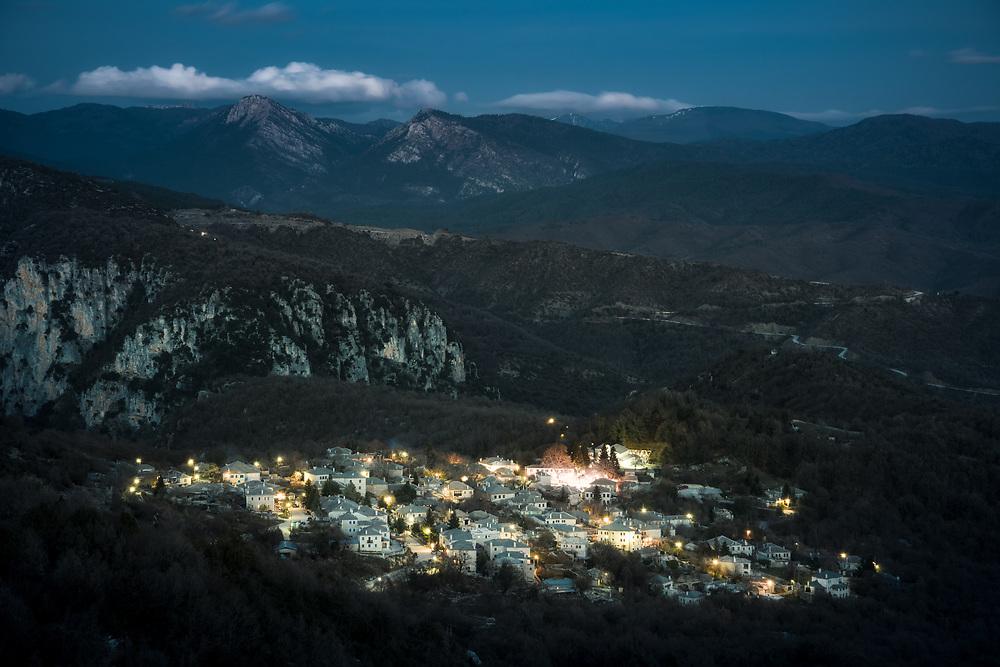 Monodendri village at  Zagori region of Greece.