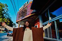 Actor Slink Johnson, star of the Adult Swim show Black Jesus.
