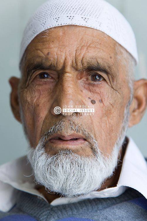 Portrait of a serious looking older man,