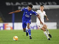Football - 2020 / 2021 Europa League - Group F - Leicester City vs Zorya Luhansk - King Power Stadium<br /> <br /> Leicester City's Wesley Fofana holds off the challenge from Zorya Luhansk's Vladyslav Kabaev.<br /> <br /> COLORSPORT/ASHLEY WESTERN