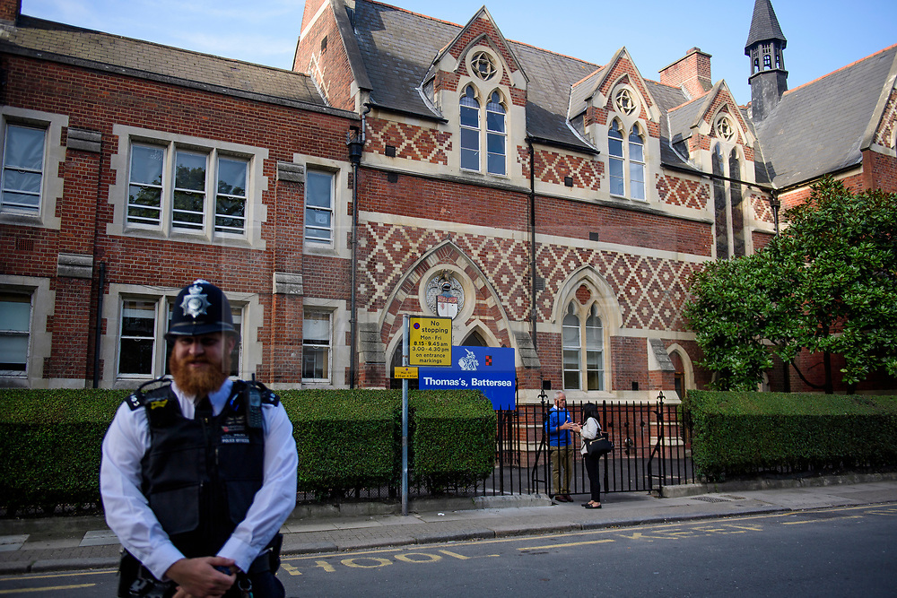 © Licensed to London News Pictures. 07/09/2017. London, UK. Thomas's Battersea in south London where PRINCE GEORGE started his first day at school today. Photo credit: Ben Cawthra/LNP