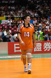 22-06-2000 JAP: OKT Volleybal 2000, Tokyo<br /> Nederland - Korea 3-1 / Riette Fledderus