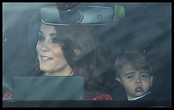 December 18, 2019, London, London, United Kingdom: Image licensed to i-Images Picture Agency. 18/12/2019. London, United Kingdom. The Duchess of Cambridge driving at The Queen's Christmas Party at Buckingham Palace in London with Prince Louis in the back seat. (Credit Image: © Stephen Lock/i-Images via ZUMA Press)