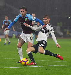 Jeff Hendrick of Burnley (L) and Maxime Le Marchand of Fulham in action - Mandatory by-line: Jack Phillips/JMP - 12/01/2019 - FOOTBALL - Turf Moor - Burnley, England - Burnley v Fulham - English Premier League
