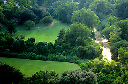 Stock photo of the aerial view of the hike and bike trail along Buffalo Bayou in Houston Texas