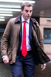 Nathan Gray, 28, election agent, for Craig MacKinlay MP at Southwark Crown Court where he together with Mackinaly and another aide, charged over alleged undeclared expenses concerning the party's 2015 General Election Battle Bus, face trial, expected to last six weeks . London, October 15 2018.