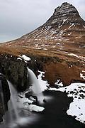 The beautiful Kirkjufell at Grundarfjörður, on the northern coast of the Snæfellsnes Peninsular in Western Iceland