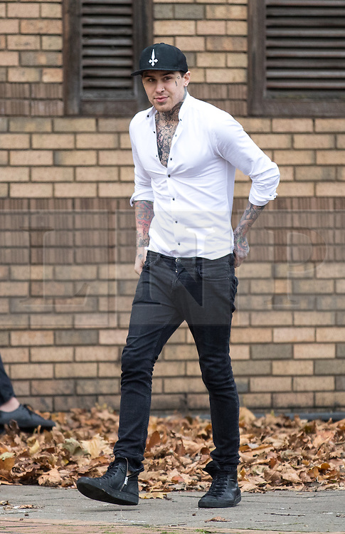 © Licensed to London News Pictures. 23/11/2016. London, UK. Marco Pierre White Jnr arrives at Hammersmith Magistrates' Court to face a fraud trial. The former Big Brother star and son of the celebrity chef is accused of defrauding his ex-girlfriend by false representation. Photo credit : Tom Nicholson/LNP