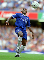 Fotball<br /> Premier League England 23.08.2003<br /> Norway Only<br /> Foto: Digitalsport<br /> <br /> Geremi (Chelsea). Chelsea v Leicester City. 23/8/2003. Credit : Andrew Cowie.