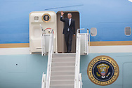 President Barack Obama arrives at South Bend Internation airport on Wednesday.  Obama is set to speak at Concord High School, then at the Lerner Theater.