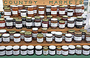 Marmalade and jam display, Suffolk Smallholders annual show, Stonham Barns, Suffolk, England, July 2008