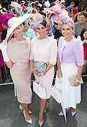 30/07/2015 report free : Winners Announced in Kilkenny Best Dressed Lady, Kilkenny Best Irish Design & Kilkenny Best Hat Competition at Galway Races Ladies Day <br /> <br /> Finalists were Emir O'Shea, Kilorglan, Mary White, Claremorris and Agne Kremenskiene, Killarney Photo:Andrew Downes, xposure