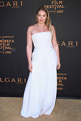 NEW YORK, NY - APRIL 26: Sofia Resing at BVLGARI World Premiere of The Conductor and The Litas at iPIC Theaters on April 26, 2018 in New York City. 26 Apr 2018 Pictured: Iskra Lawrence. Photo credit: MPI99/Capital Pictures / MEGA TheMegaAgency.com +1 888 505 6342