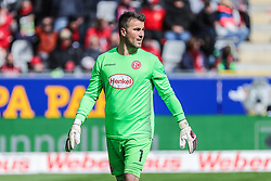 05.05.2019, Schwarzwald Stadion, Freiburg, GER, 1. FBL, SC Freiburg vs Fortuna Duesseldorf, 32. Runde, im Bild Michael Rensing (Fortuna Duesseldorf #1) // during the German Bundesliga 32th round match between SC Freiburg and Fortuna Duesseldorf at the Schwarzwald Stadion in Freiburg, Germany on 2019/05/05. EXPA Pictures © 2019, PhotoCredit: EXPA/ Eibner-Pressefoto/ beautiful sports/Hubbs<br /> <br /> *****ATTENTION - OUT of GER*****