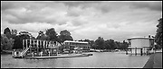 Henley-On-Thames, Berkshire, UK., Tuesday,  31/08/2021, Construction site, on the River, 2021 Regatta Course,  General view of the Writers' Box and the Finish Line Tower being, Struck as the course is dismantled, Striking,   [Mandatory Credit © Peter Spurrier/Intersport Images],