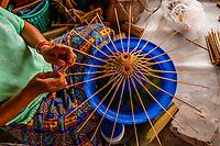 Umbrella making, Chiang Mai, Northern Thailand