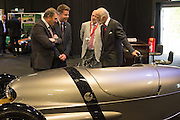 NIGEL MANSELL; JAMES GILBERT; CHRIS WAKLEY; PRINCE MICHAEL OF KENT, Preview for The London Motor Show, Battersea Evolution. London. 5 May 2016