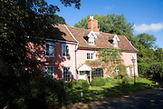 Attractive traditional village houses, Ufford, Suffolk, England