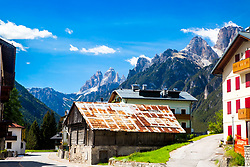 Auronzo di Cadore, a cute alpine village in the  Dolomite Mountains of northern Italy.  I could live in the peaceful little town.