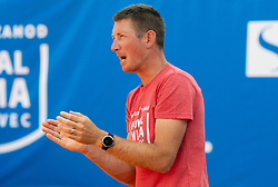 Robi Cokan, coach of Team East  during Day 1 of tennis tournament Mima Jausovec cup where compete best Slovenian tennis players of the East and West, on June 6, 2020 in RCU Lukovica, Slovenia. Photo by Vid Ponikvar / Sportida