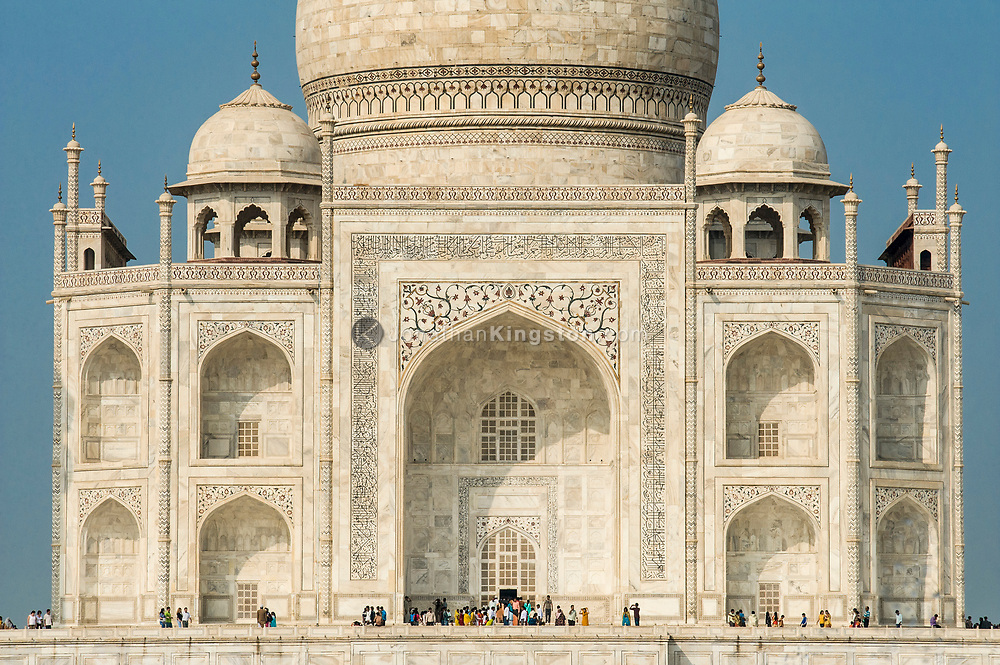 View of the south side of the Taj Mahal, Agra, India.