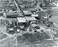 1922 Aerial photo of movie sets at Vitagraph Studios