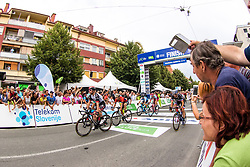 Simone Consonni of UAE,  Matteo Pelucchi of Bora Hansgrohe, Nicolo Bonifazio of Bahrain Merida and Luka Mezgec of Mitchelton Scott during 1st Stage of 25th Tour de Slovenie 2018 cycling race between Lendava and Murska Sobota (159 km), on June 13, 2018 in  Slovenia. Photo by Matic Klansek Velej / Sportida