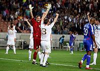 Photo: Richard Lane/Sportsbeat Images.<br />France v Scotland. UEFA European Championships Qualifying. 12/09/2007. <br />Scotland's keeper, Craig Gordon celebrates victory over France.