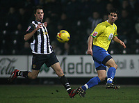 Photo: Paul Thomas.<br /> Notts County v Hereford United. Coca Cola League 2. 22/12/2006.<br /> <br /> Tim Sills (R) of Hereford crooes the ball in front off Ian Ross.