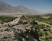 Old Buddhist stupa in Vrang village. A stupa is a mound-like structure containing relics (śarīra - typically the remains of Buddhist monks or nuns) that is used as a place of meditation.<br /> Sights and places to see while walking along the Tajikistan side of the Wakhan Corridor.