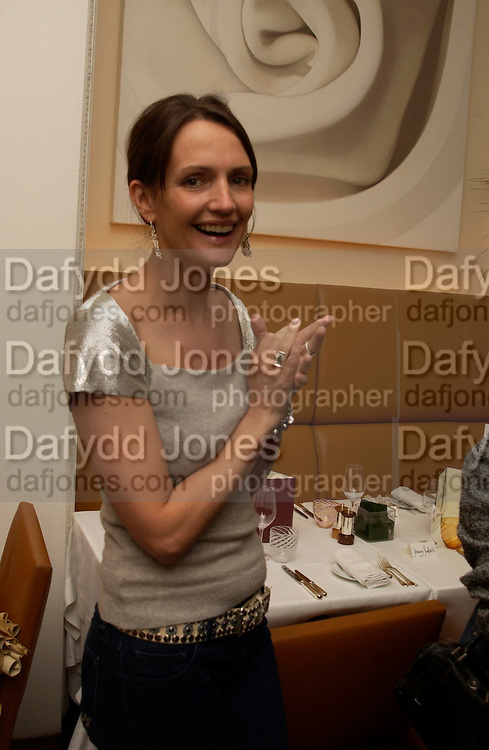 Saffron Aldridge. Lunch party for Brooke Shields hosted by charles finch and Patrick Cox. Mortons. Berkeley Sq. 6 July 2005. ONE TIME USE ONLY - DO NOT ARCHIVE  © Copyright Photograph by Dafydd Jones 66 Stockwell Park Rd. London SW9 0DA Tel 020 7733 0108 www.dafjones.com