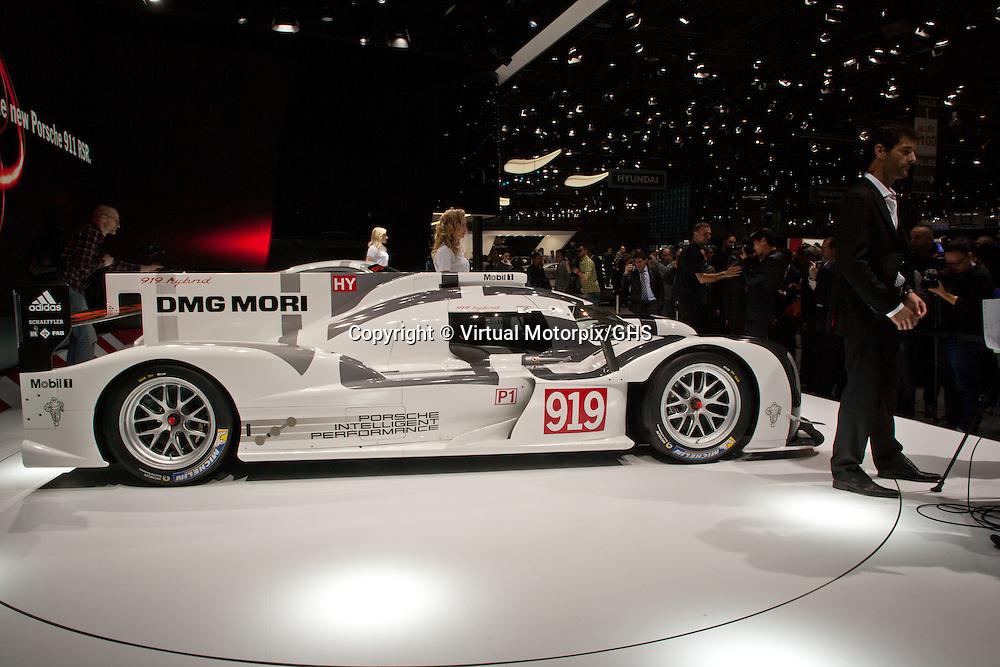 Porsche 919 H (LMP1) at the Geneva Motor Show 2014