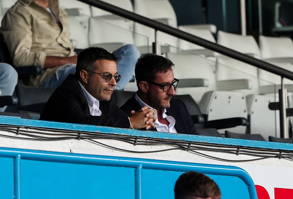 Leeds United owner Andrea Radrizzani watches on<br /> <br /> Photographer Alex Dodd/CameraSport<br /> <br /> The EFL Sky Bet Championship - Leeds United v Barnsley - Thursday 16th July 2020 - Elland Road - Leeds<br /> <br /> World Copyright © 2020 CameraSport. All rights reserved. 43 Linden Ave. Countesthorpe. Leicester. England. LE8 5PG - Tel: +44 (0) 116 277 4147 - admin@camerasport.com - www.camerasport.com