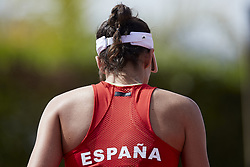 April 21, 2018 - La Manga, Murcia, Spain - Garbine Muguruza of Spain walks away in her match against Montserrat Gonzalez of Paraguay during day one of the Fedcup World Group II Play-offs match between Spain and Paraguay at Centro de Tenis La Manga Club on April 21, 2018 in La Manga, Spain  (Credit Image: © David Aliaga/NurPhoto via ZUMA Press)