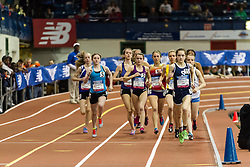 NSAF 2014 New Balance Nationals Indoor, girls two-mile lead by DeBalsi