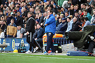 Preston North End's Manager Simon Grayson watches the action. Skybet football league one play off semi final, 1st leg match, Preston North End v Rotherham United at the Deepdale Stadium in Preston, England on Saturday 10th May 2014.pic by Chris Stading, Andrew Orchard sports photography.