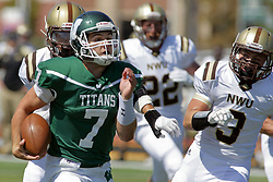 09 September 2017:  Brandon Bauer during an NCAA division 3 football game between the Nebraska Wesleyan PRAIRIE WOLVES and the Illinois Wesleyan Titans in Tucci Stadium on Wilder Field, Bloomington IL