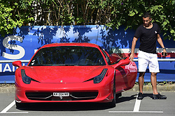 July 4, 2017 - St Germain En Laye, France, France - arrivee de MARQUINHOS (PSG) dans sa Ferrari (Credit Image: © Panoramic via ZUMA Press)